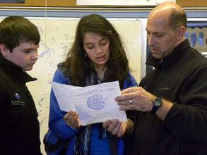 David Mickola with students.