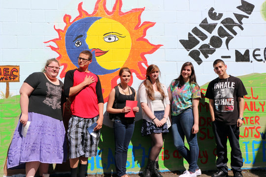 Youth artists with a healthy message