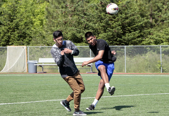Soccer is a great way to be physically active.