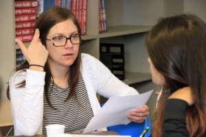 Vanessa mentors youth toward healthy behaviors.