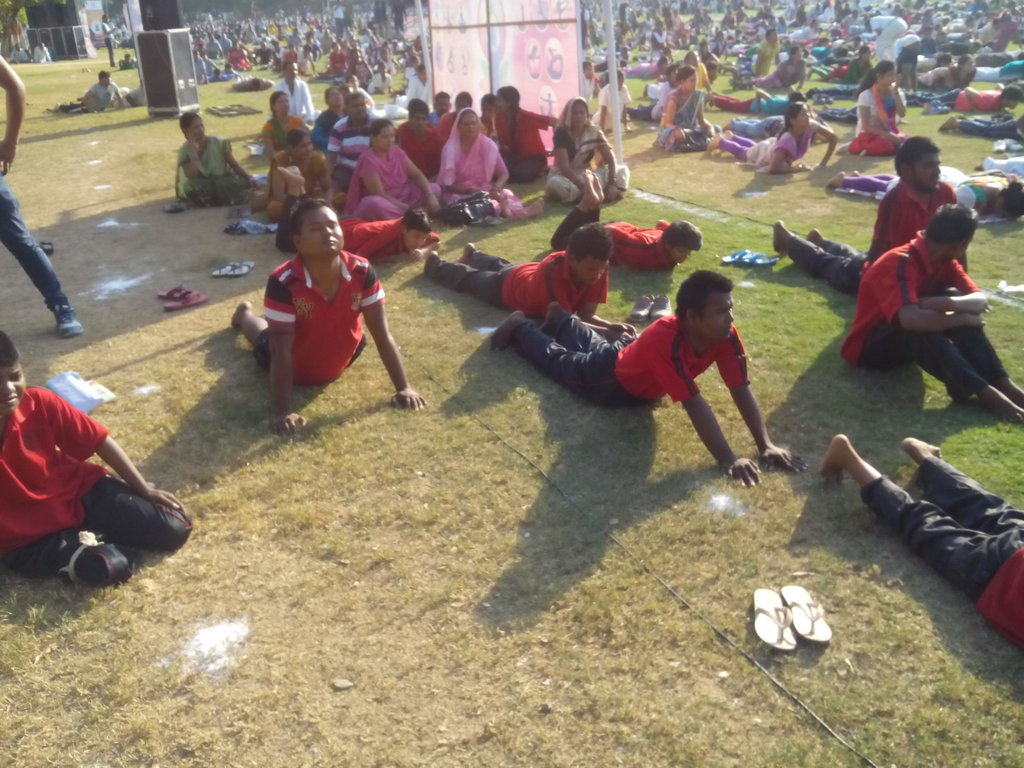 Our children participating in First Intl Yoga Day