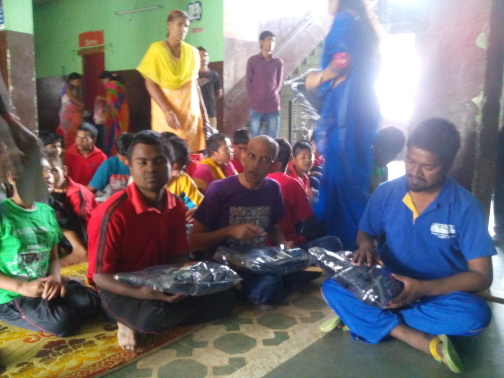 Deepawali celebrated, happy children with guests