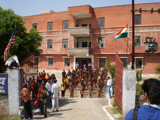 Foundation day - hoisting the flags