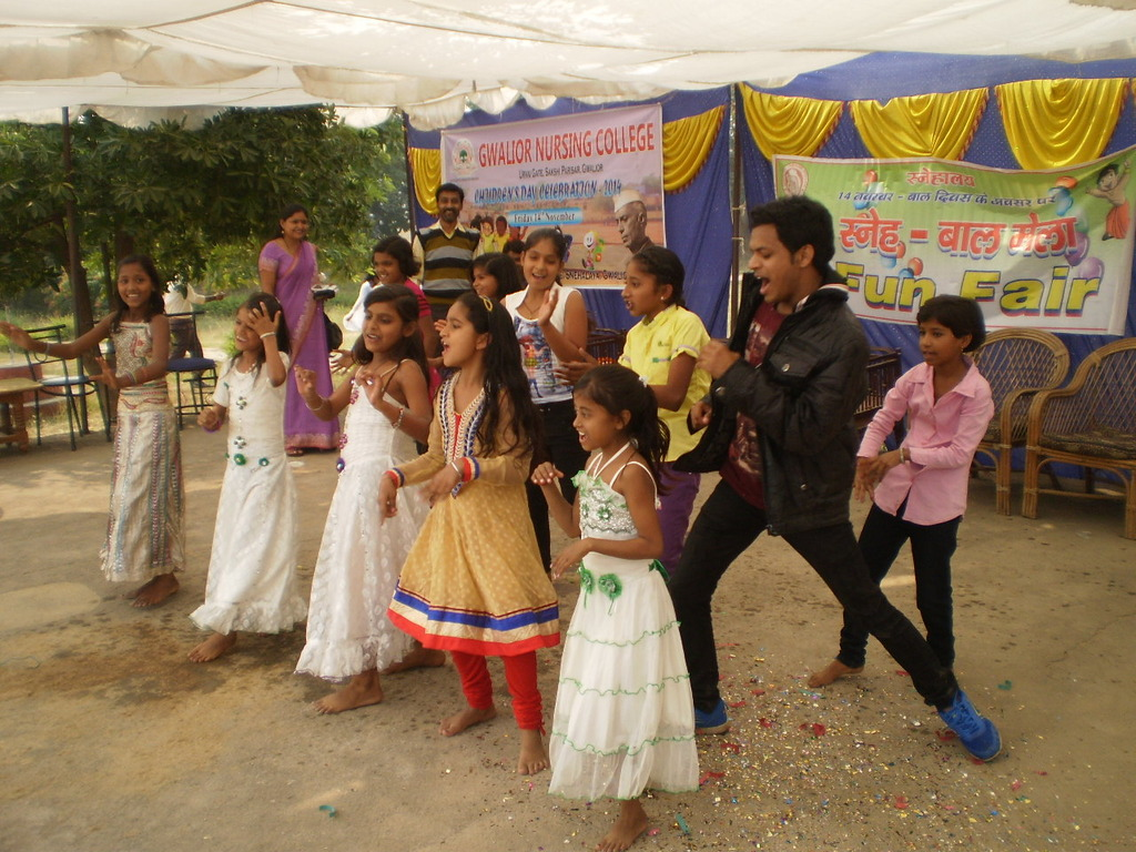 a dance sequence presented by our children