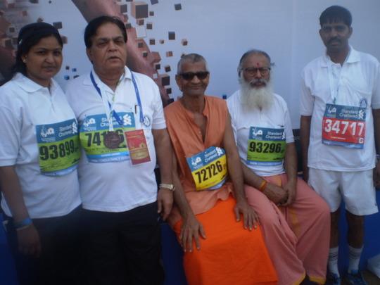Our team from Gwalior in Mumbai Marathon