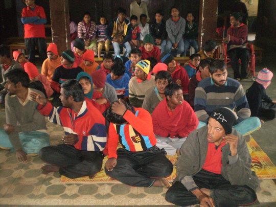 Children of Snehalaya participating in Pooja