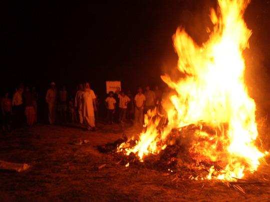 Holika Dahan on 5th March in snehalaya