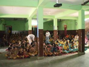 Children of Snehalaya enjoying Holi celebrations