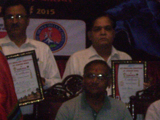 Dr. Sharma awarded with Mayor Mr. Shejwelkar