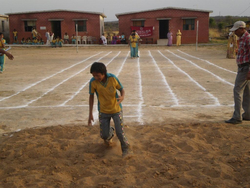 Long jump - sports day in Snehalaya