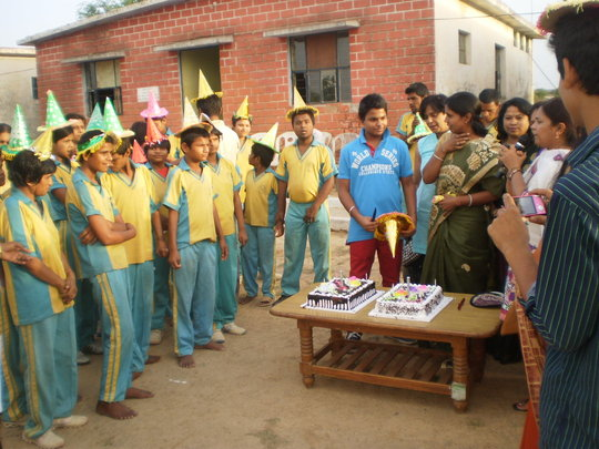 celebrating birth day in Snehalaya