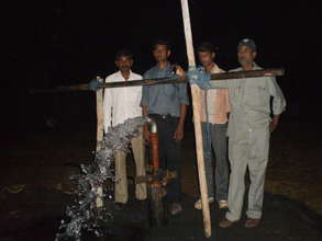 New borewell - water flowing from 410 feet depth