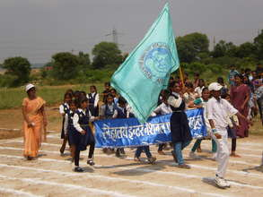 Our children in March past for Sports competitions