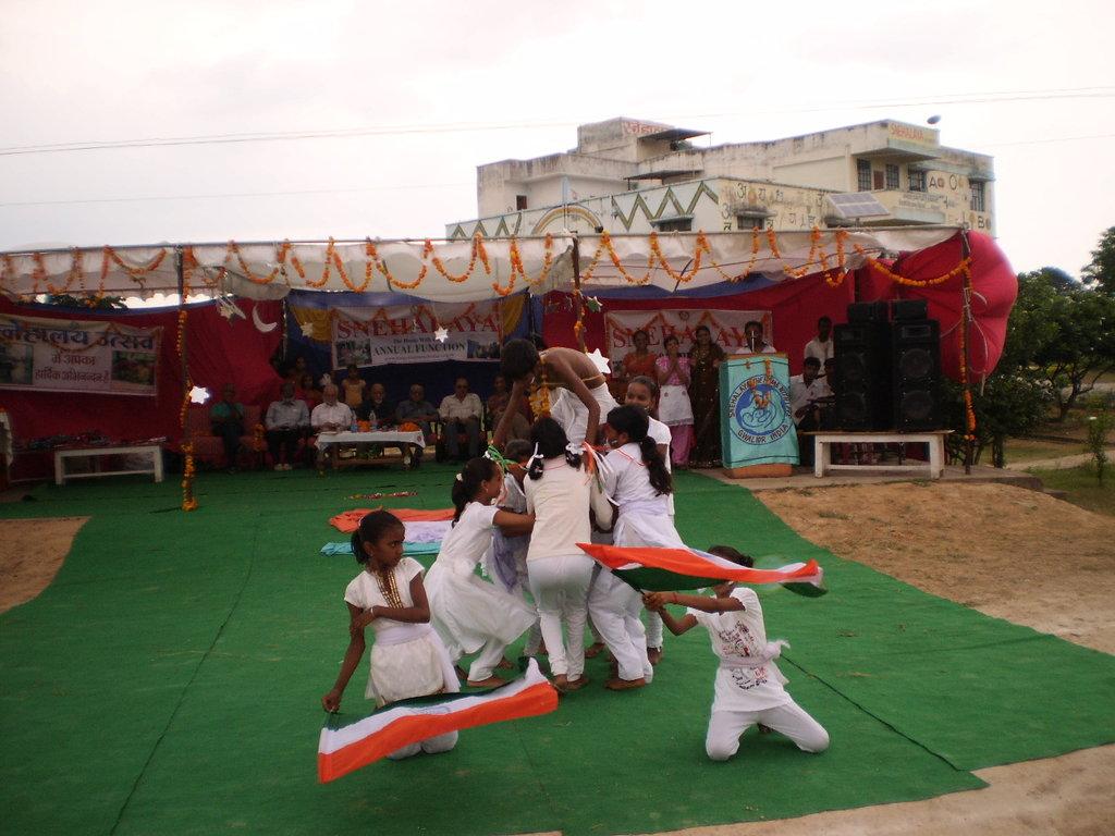 Vandemataram in Yoga pyramid by our children