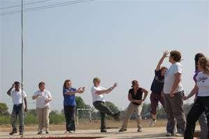 Volunteers in Snehalaya entertaining our children