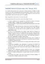 CFS Progress Report December