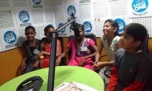 Children at Radio Station