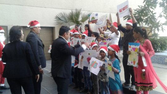 Christmas Celebration at Hotel Marriott