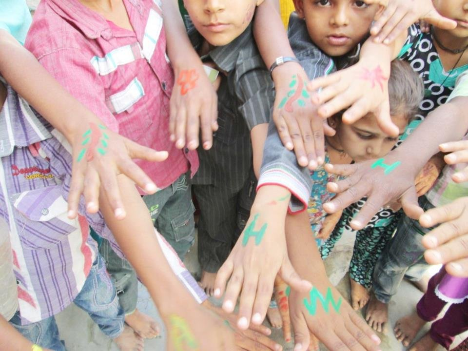 Children celebrated Herbal Holi - CEE