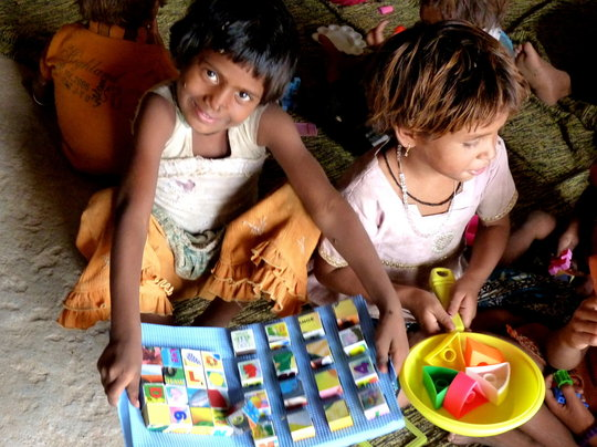 Children playing in the CFS