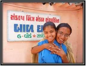 Shahin with her teacher Firdos