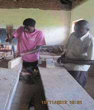 Carpentry Student making a Stool