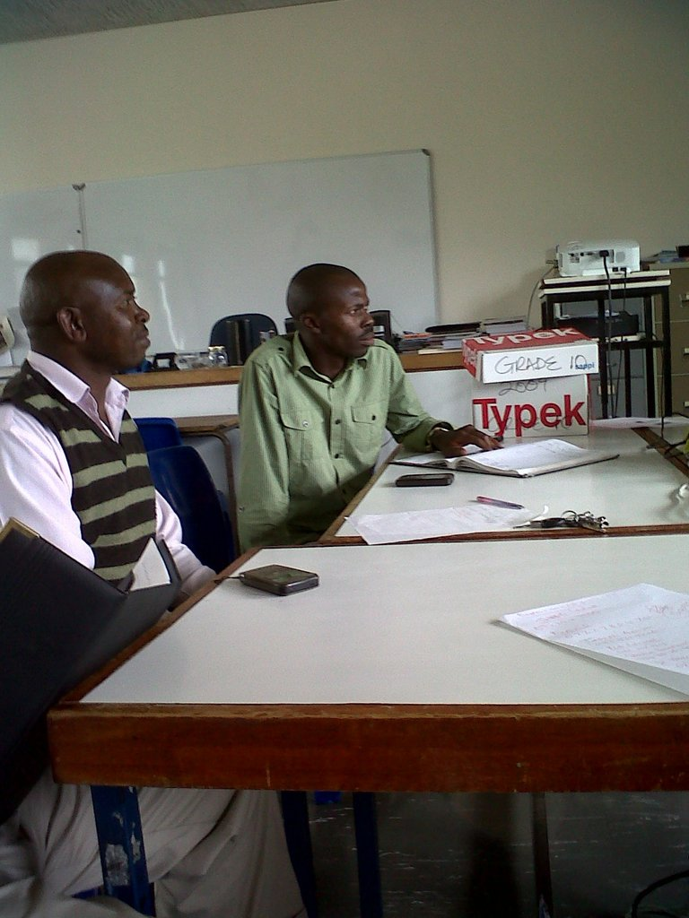 Thabo and David from Dazerus House at the meeting