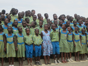 Class four students at Challenging Heights School