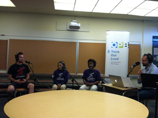 OPB Think Out Loud Broadcast at Shaver Elementary