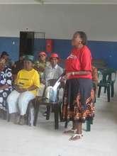 Sharing at Gogo's HIV literacy training