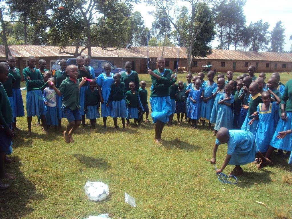 Nyaisa pupils could not hide their joy