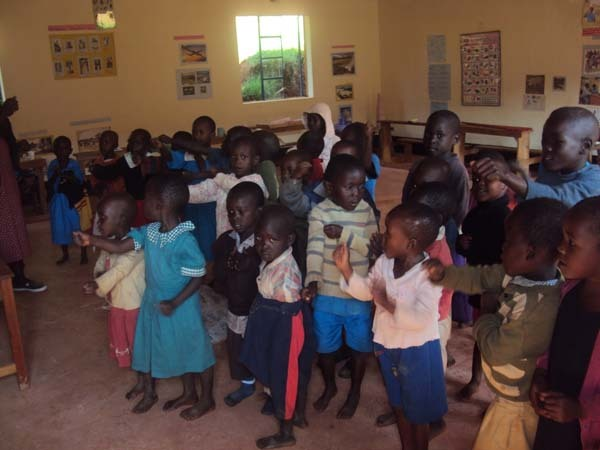 Orphans with other children in ECD class