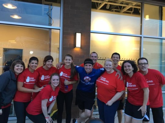 ADA Staff and Board Celebrating Get Fit, Don