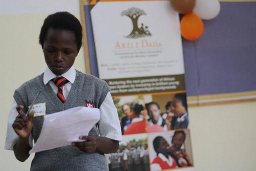 Scholar presenting at Akili Dada conference
