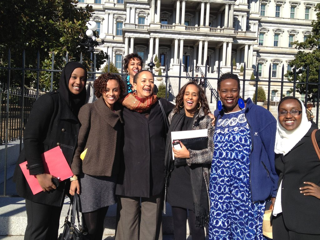 Wanjiru (2nd from right) honored at White House