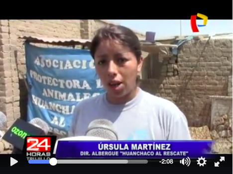 Ursula, from Huanchaco Al Rescate.