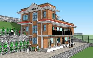 Architectural drawing of new New Life Center