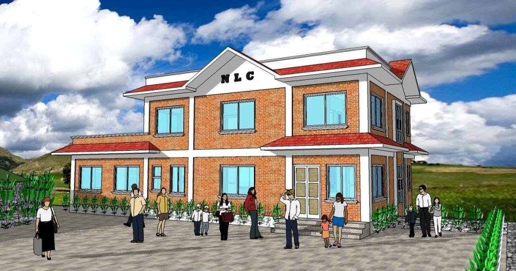 Front view of the proposed New Life Center