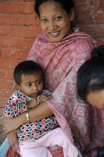 Mother and child at New Life Center