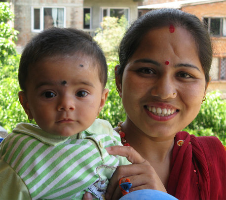 Sita and her son, healthy and ready to go home