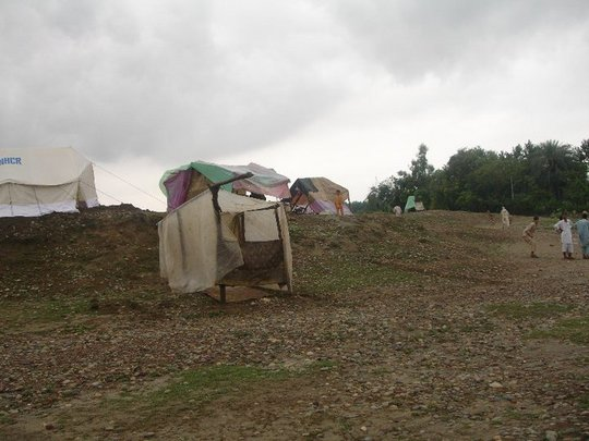 A temporary shelter in interior Sindh