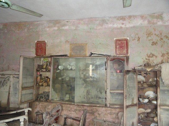 A flood-damaged home