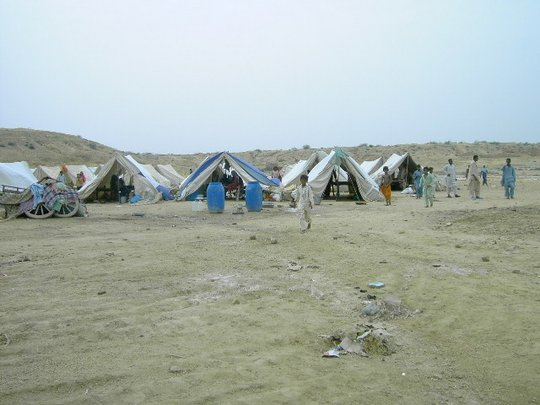 Living conditions at an IDP camp, Hyderabad
