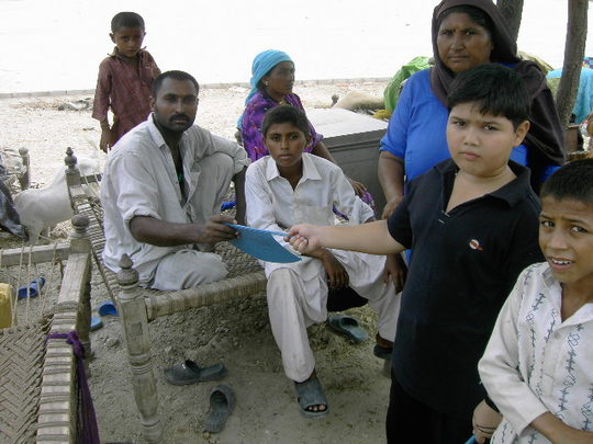 A camp we supported in Hyderabad, Sindh