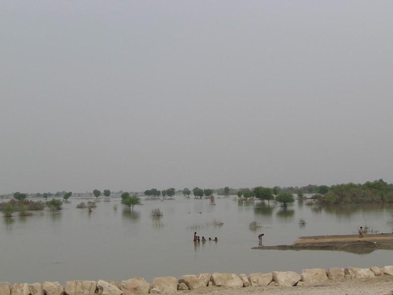 Flood waters in Sukkur