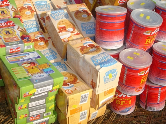 Baby products ready for distribution