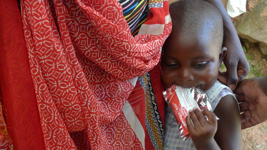 Provide Plumpy'nut for children in the DR Congo