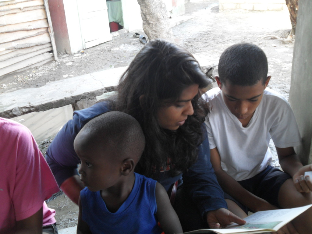 Reading to younger students in the community