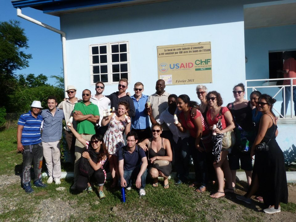 Yspaniola Scholars in Haiti with SIPA students