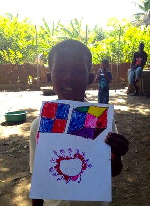 Papo shows his beautiful art at Summer Camp
